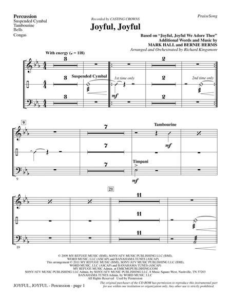 Joyful, Joyful - Percussion