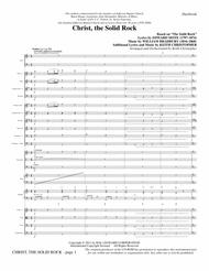Christ, The Solid Rock - Full Score