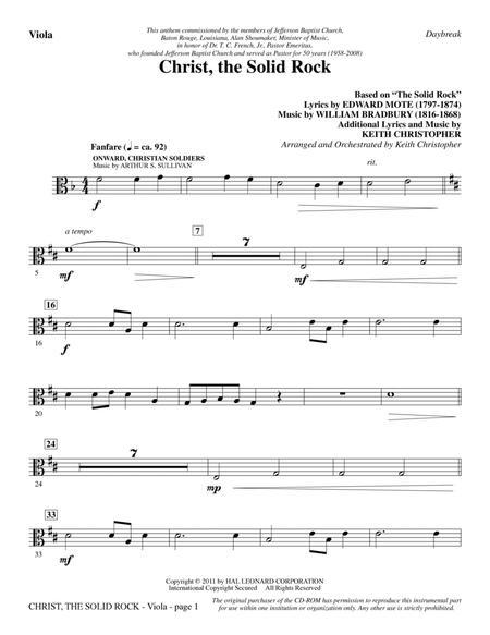 Christ, The Solid Rock - Viola