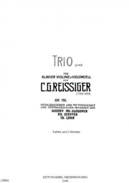 Trio non difficile et brillant g moll : fur Klavier, Violine u. Violoncell, op. 181