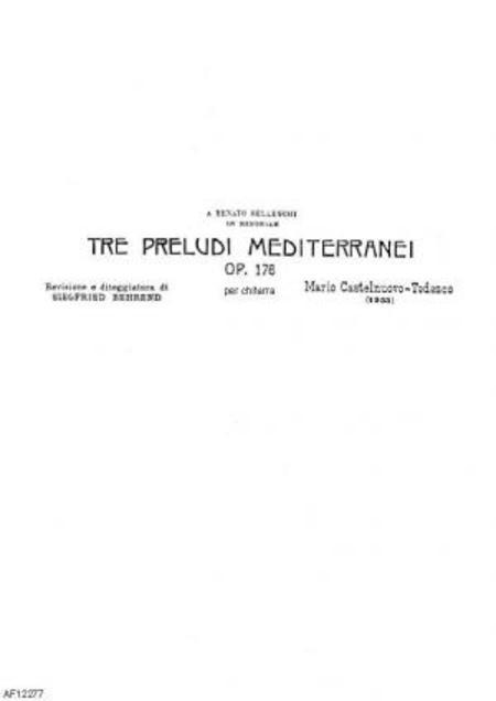 Tre preludi mediterranei : per chitarra, op. 176, 1955