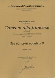 Canzoni alla francese per sonare a 4 (lib. 2nd) (Venezia, 1596)