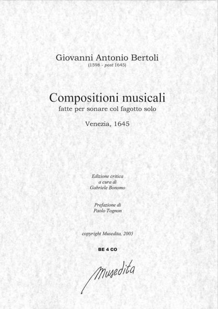 Composizioni musicali (Venezia, 1645)