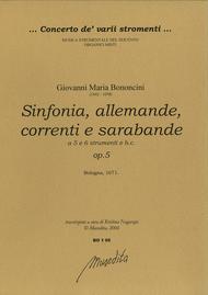 Sinfonia, allemande, correnti, a 5 e a 6, op. 5