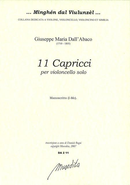 11 Capricci per violoncello (Manuscript, I-Mc)