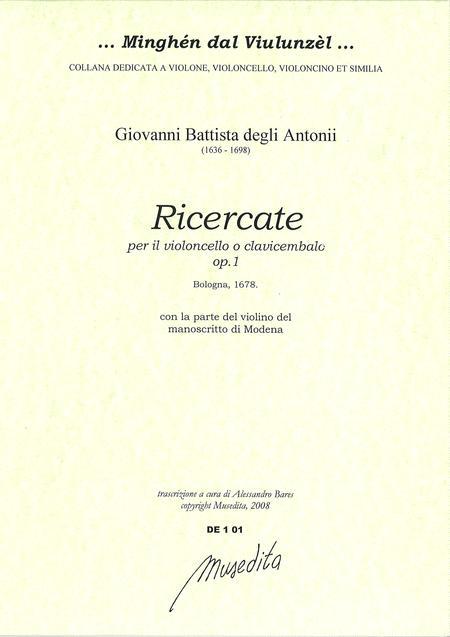 Ricercate op. 1 (Bologna, 1687)