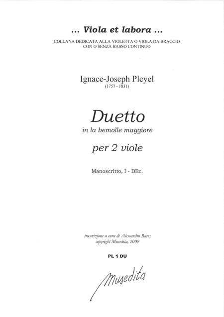 Duet in A flat Major (Manuscript, I-BRc)