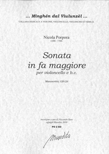 Cello Sonata in F Major (Manuscript, GB-Lbl)