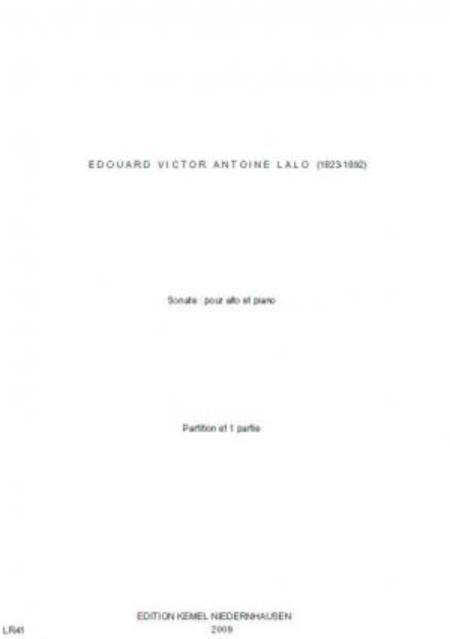 Sonate : pour alto et piano