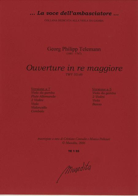 Ouverture in D Major TWV 55:D6 (Manuscript, D-B, D-DS)