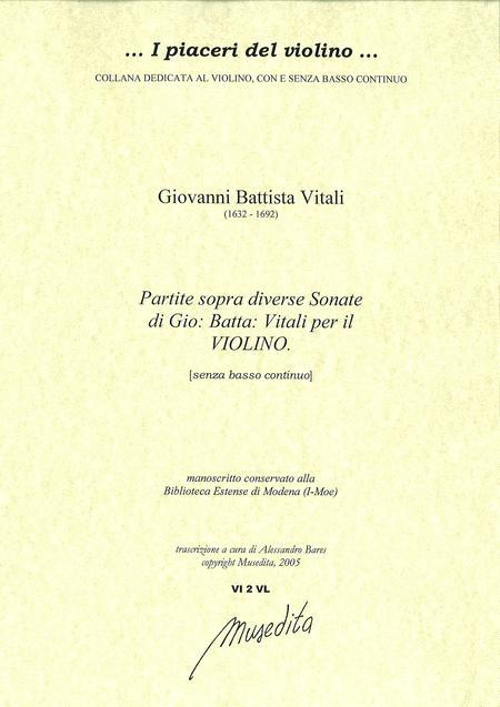 Varie partite sopra diverse sonate per il violino