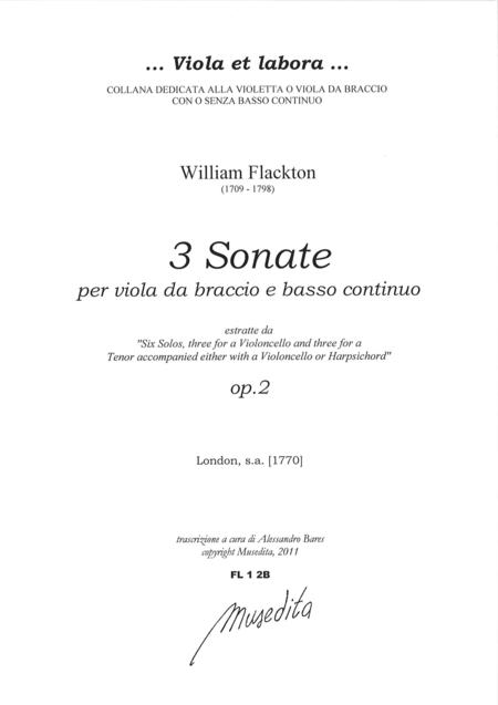 3 Viola Sonatas from op. 2 (London, senza anno [1770])