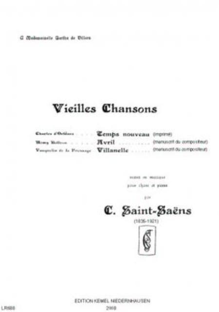 Vieilles chansons : pour chant et piano