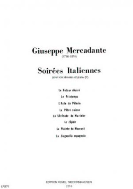 Soirees italiennes : pour voix elevees et piano
