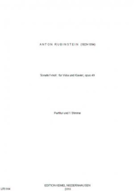 Sonate f-moll : fur Viola und Klavier, opus 49