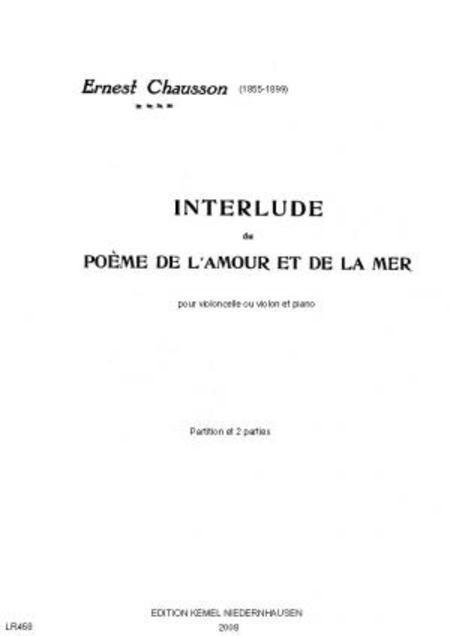 Interlude Du Poeme De Lamour Et De La Mer Pour