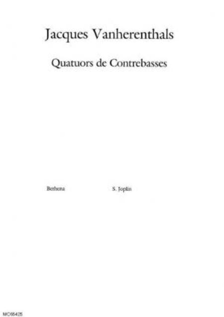 Bethena : arrangement : quatuor de contrebasses