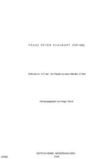 Sinfonie no. 9 C-dur : fur Klavier zu zwei Handen, D 944