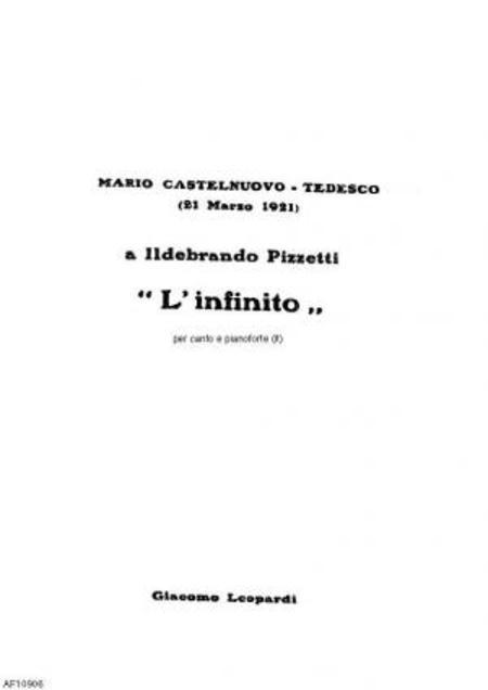 L'Infinito : per canto e pianoforte, 1921