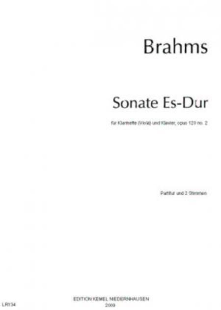 Sonate Es-Dur : fur Klarinette (Viola) und Klavier, opus 120 no. 2