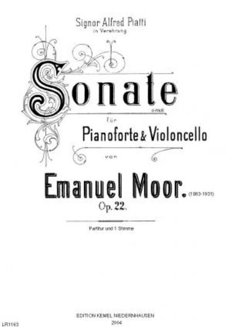 Sonate c-moll : fur Pianoforte & Violoncello, op. 22