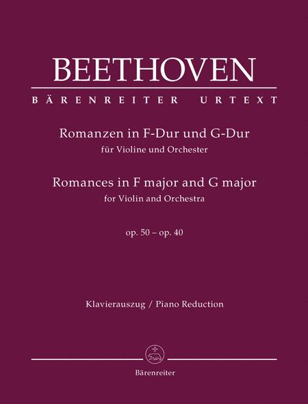 Romances in F major and G major for Violin and Orchestra, Op. 50, 40