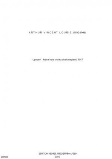 Upmann : kuritel'naia shutka dlia fortepiano, 1917
