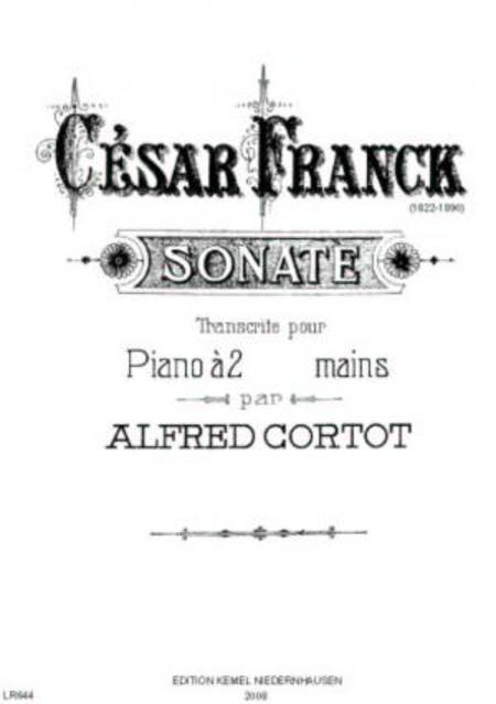Sonate [la majeur] : pour piano a 2 mains
