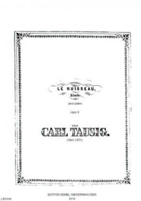 Le ruisseau : etude pour piano, opus 6