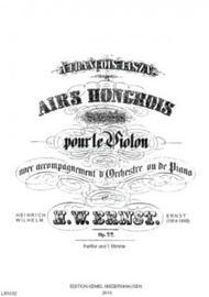 Airs hongrois varies : pour le violon avec accompagnement d'orchestre ou de piano, op. 22 (Klavierauszug)