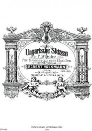 Ungarische Skizzen : 7 Stucke fur Klavier zu vier Handen, op. 24