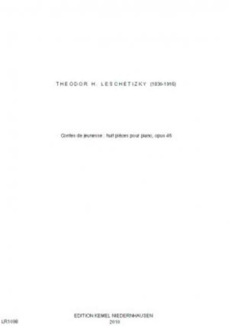 Contes de jeunesse : huite pieces pour piano, opus 46