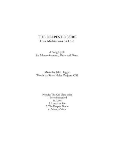 The Deepest Desire (piano/vocal score)