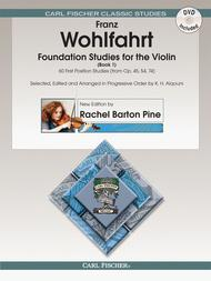Foundation Studies for The Violin, Vol. 1