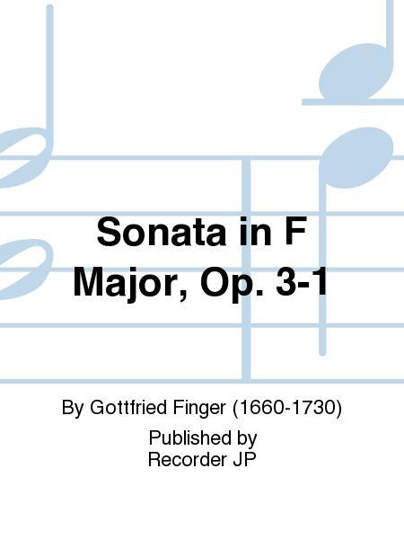 Sonata in F Major, Op. 3-1
