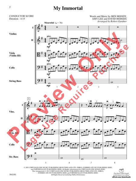 Evanescence : My Immortal sheet music