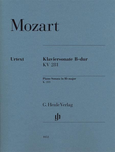 Piano Sonata in B-flat Major, K281 (189f)