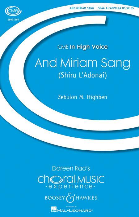 And Miriam Sang (Shiru L'Adonai)