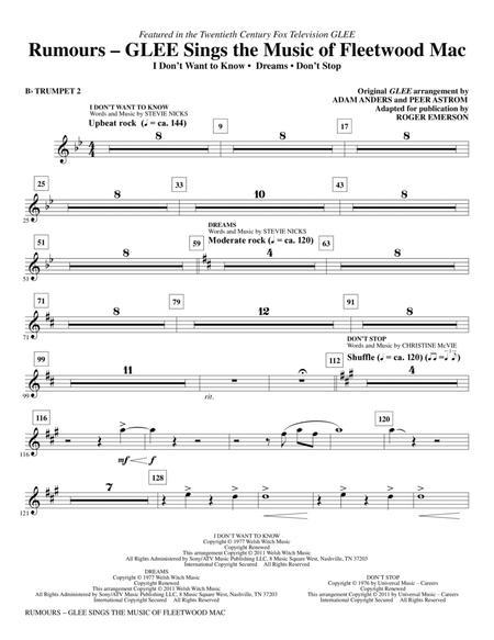 Rumours: Glee Sings The Music Of Fleetwood Mac - Bb Trumpet 2