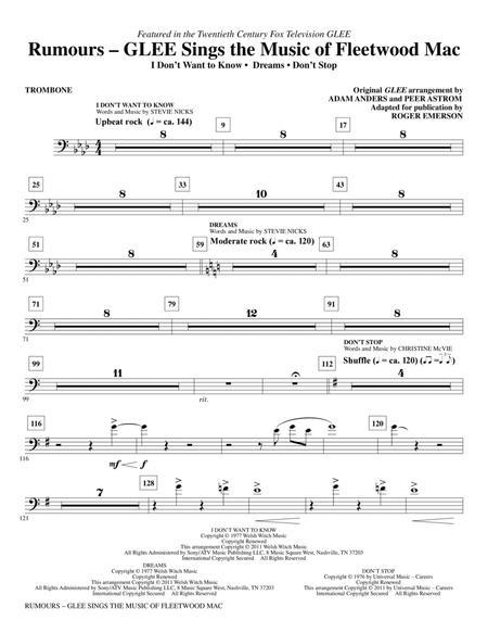 Rumours: Glee Sings The Music Of Fleetwood Mac - Trombone