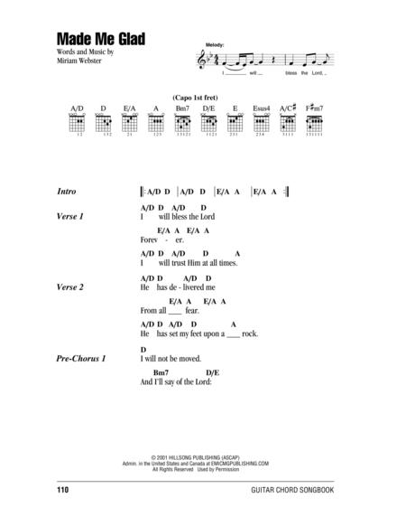 Download Made Me Glad Sheet Music By Miriam Webster Sheet Music Plus
