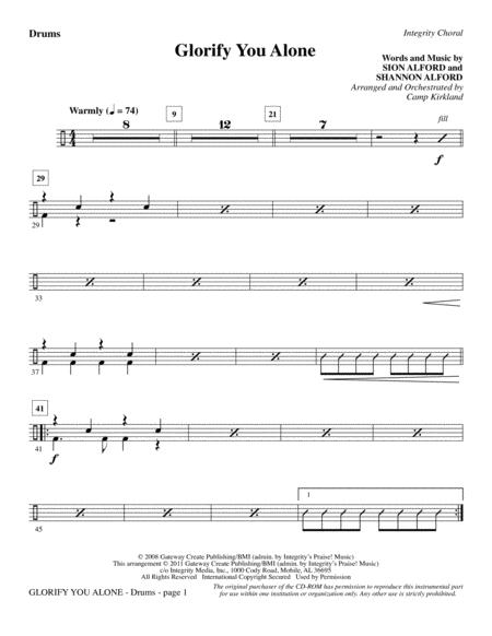 Download Glorify You Alone - Drums Sheet Music By Sion