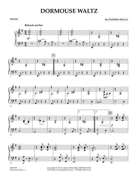 Dormouse Waltz - Piano