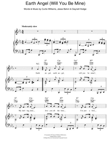 Download Earth Angel Sheet Music By The Platters - Sheet Music Plus