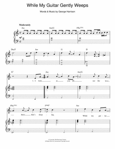 Download While My Guitar Gently Weeps Sheet Music By The Beatles ...