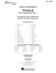 Finale from Symphony No. 1 - Full Score