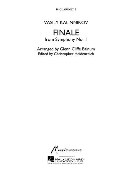 Finale from Symphony No. 1 - Bb Clarinet 2