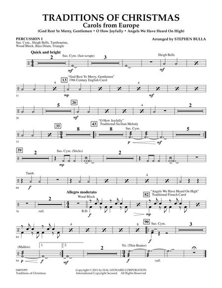 Traditions Of Christmas (Carols From Europe) - Percussion 1