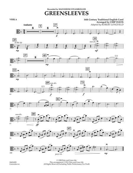 Greensleeves - Viola