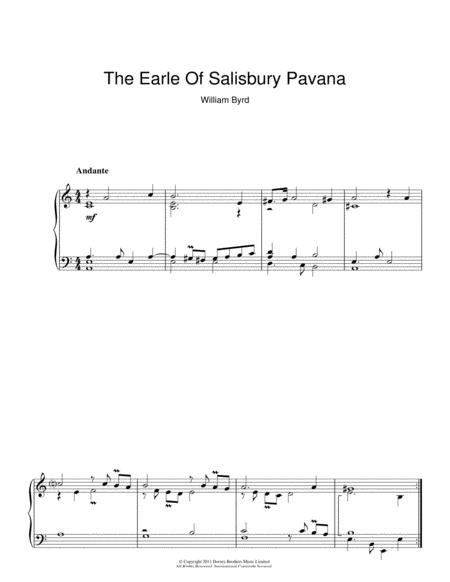 The Earle Of Salisbury Pavana